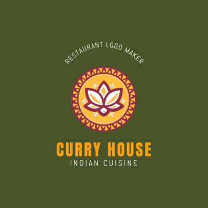 Indian Cuisine Logo Maker for an Indian Restaurant 1836a