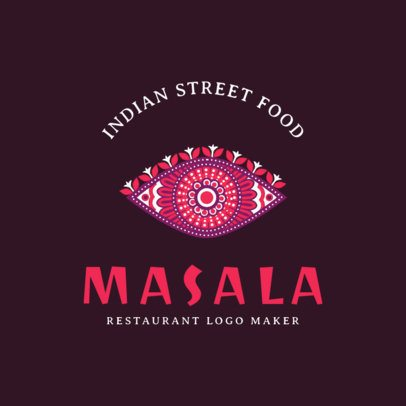 Indian Restaurant Logo Maker for an Indian Street Food Place 1836c