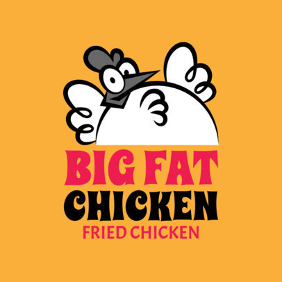 Cool Fried Chicken Restaurant Logo Maker 1231d