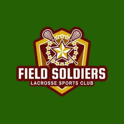 Lacrosse Logo Maker for a Lacrosse Sports Club 1594c
