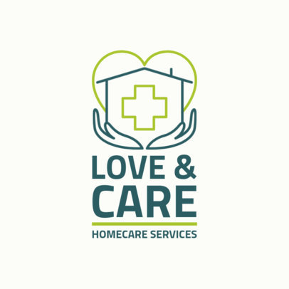 Health Care Logo Maker for Home Care 1806d