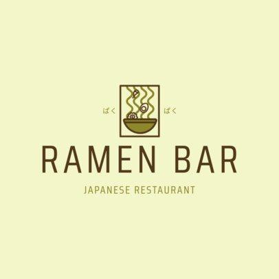 Minimalist Japanese Food Logo Maker for a Ramen Bar 1822e