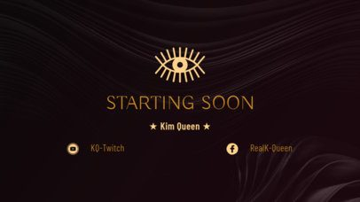 Twitch Overlay Maker for a Stream Starting Soon Screen 1224d