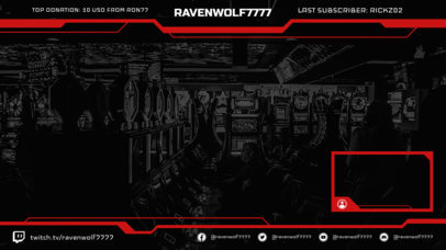 Cool Twitch Overlay Maker with Webcam Frame Layout 1245