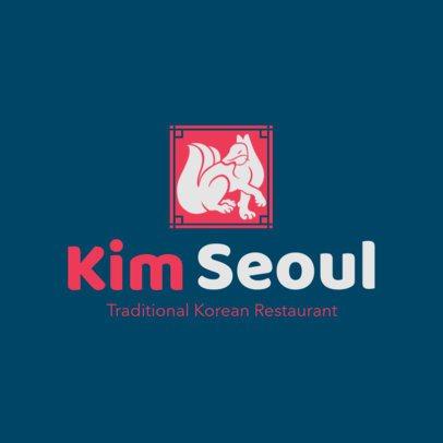 Korean Food Logo Maker for a Traditional Korean Restaurant 1919a