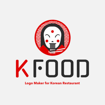 Logo Maker for a Korean Noodles Restaurant 1919d