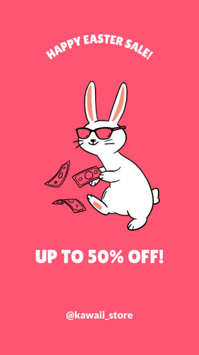 Instagram Story Template for an Easter Day Sale 1044f