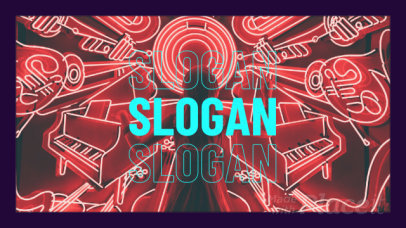 Modern Slideshow Video Maker Featuring Animated Text and Images for Musicians 2406-el1