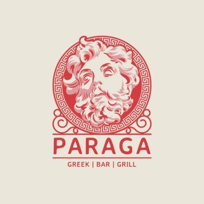 Restaurant Logo Maker with a Greek God Clipart 1914e