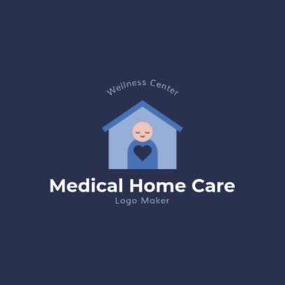 Medical Home Care Logo Template with a Medical Graphic 1802e