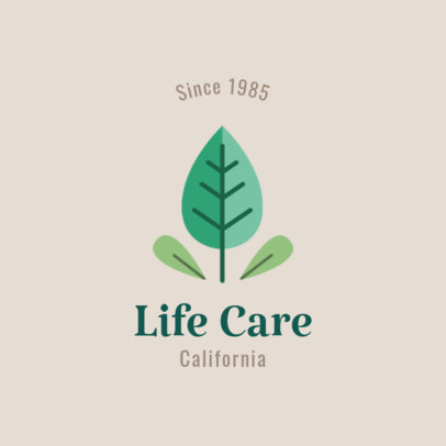 Life Care Logo Maker with Organic Graphics 1802f