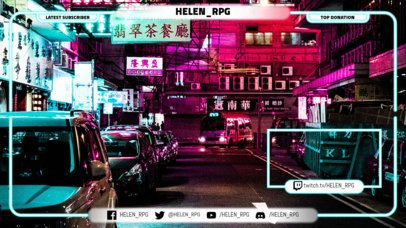 Twitch Overlay Maker with Webcam Frame 1246
