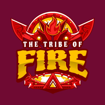 Gaming Logo Maker with Fiery Tribal Style 1878b
