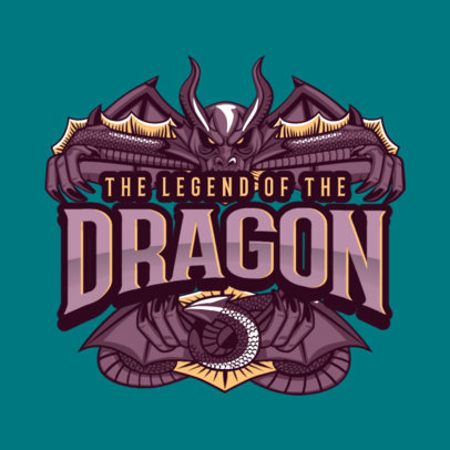 Gaming Logo Generator with an Epic Dragon Clipart 1878c