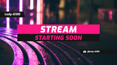 Twitch Overlay Maker for a Stream Starting Soon Message 1225a
