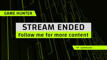Stream Ended Twitch Overlay Maker with Bold Typeface 1225c