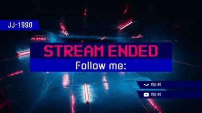Cool Twitch Overlay Generator for with a Stream Ended Message 1225e