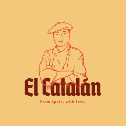 Minimalistic Logo Maker for a Traditional Spanish Restaurant 1916d