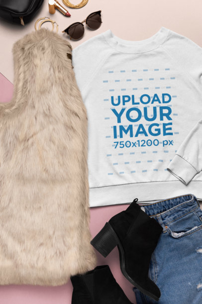 Sweatshirt Mockup of a Trendy Women's Outfit 26556