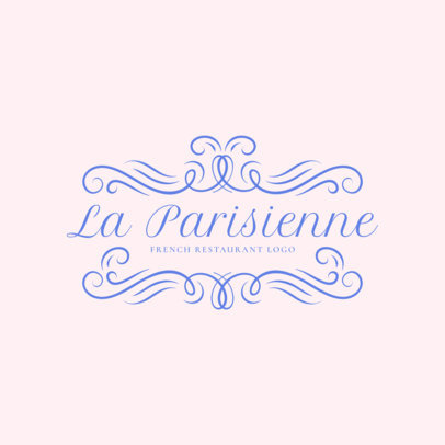 Placeit French Restaurant Logo Maker Featuring A Crown Frame
