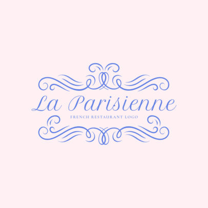 Sophisticated French Food Restaurant Logo Maker 1808