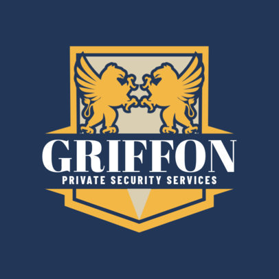 Bold Logo Template for Private Security Services 1787a