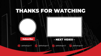 Youtube End Screen with Abstract Frame Textures 1265