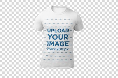 Ghosted T-Shirt Mockup Standing Facing Front 26966