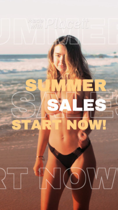Instagram Story Video Maker for a Summer Sale 1609