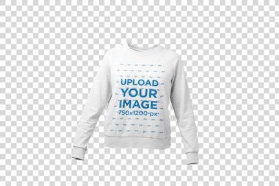 Mockup of a Ghosted Women's Crewneck Sweatshirt 26953