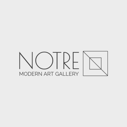 Logo Maker for a Modern Art Gallery 1311f