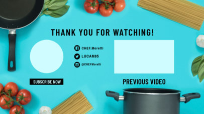 YouTube End Screen Featuring Cooking Ingredients 1256e