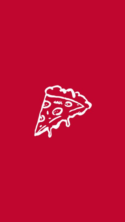 Instagram Story Cover Maker with Minimalist Pizza Icon 1300c