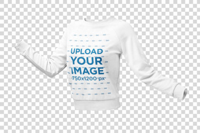 Ghosted Sweatshirt Mockup of an Invisible Model with Open Arms 26954