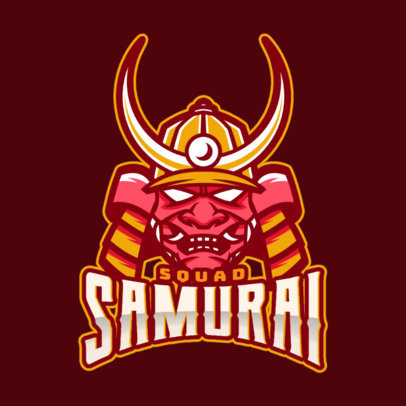 eSports Logo Maker With Samurai Clipart 1749f