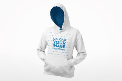Mockup of a Ghosted Women's Hoodie Pullover in a Relaxed Pose 26956