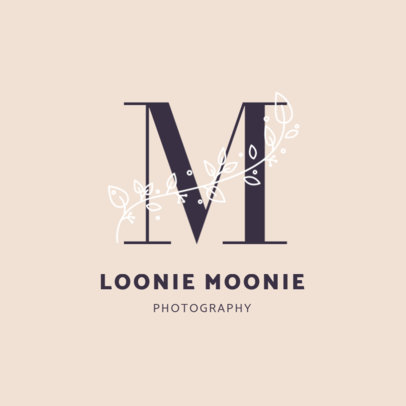 Monogram Logo Maker for a Professional Photography Business 2172