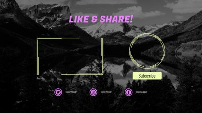 YouTube Outro Template with a Like and Share Request 1258e