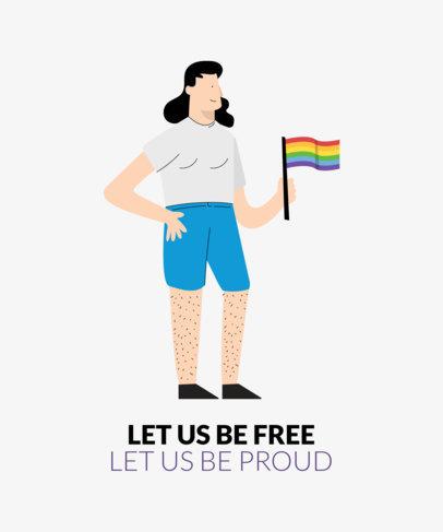 Pride T-Shirt Design Template 1289