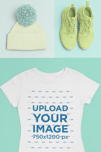 T-Shirt Mockup of a Hipster Outfit 26412