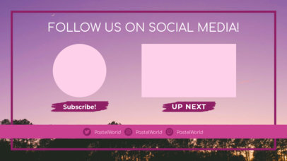 Simple YouTube End Card Design Maker with Social Media Icons