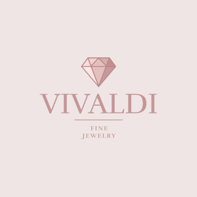 Fine Jewelry Store Logo Template with a Sophisticated Design 2191