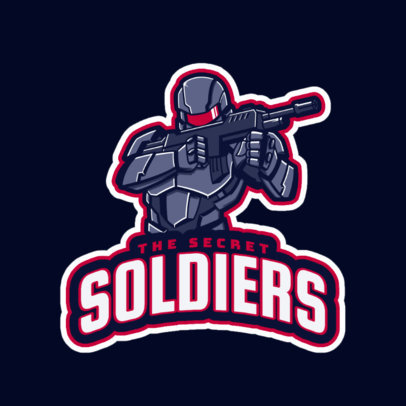 Gaming Logo Maker for a Fighting Soldiers Genre Game 1746f
