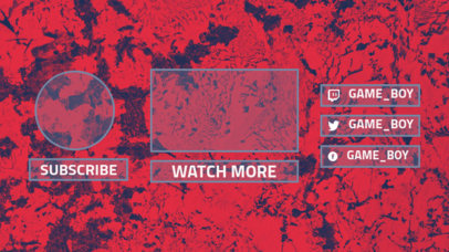 YouTube End Card Template with an Abstract Background
