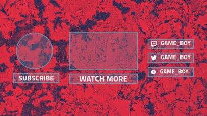 YouTube End Card with an Abstract Background 1253a