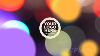 Logo Reveal Video Maker with Colorful Bubbles 1505