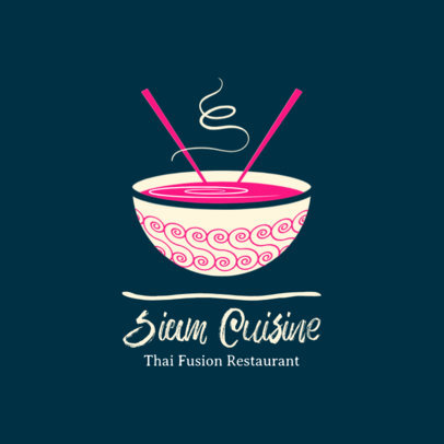 Thai Cuisine Logo Design Maker 1838e