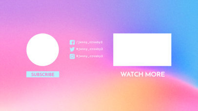 Simple YouTube End Card Maker with a Faded Background 1255a