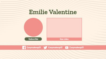 Retro-Styled YouTube End Card Template 1267d