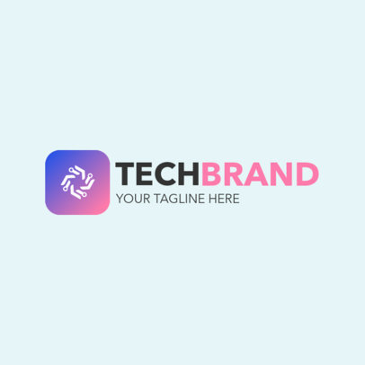Technology Logo Maker Featuring an Abstract Icon 2177